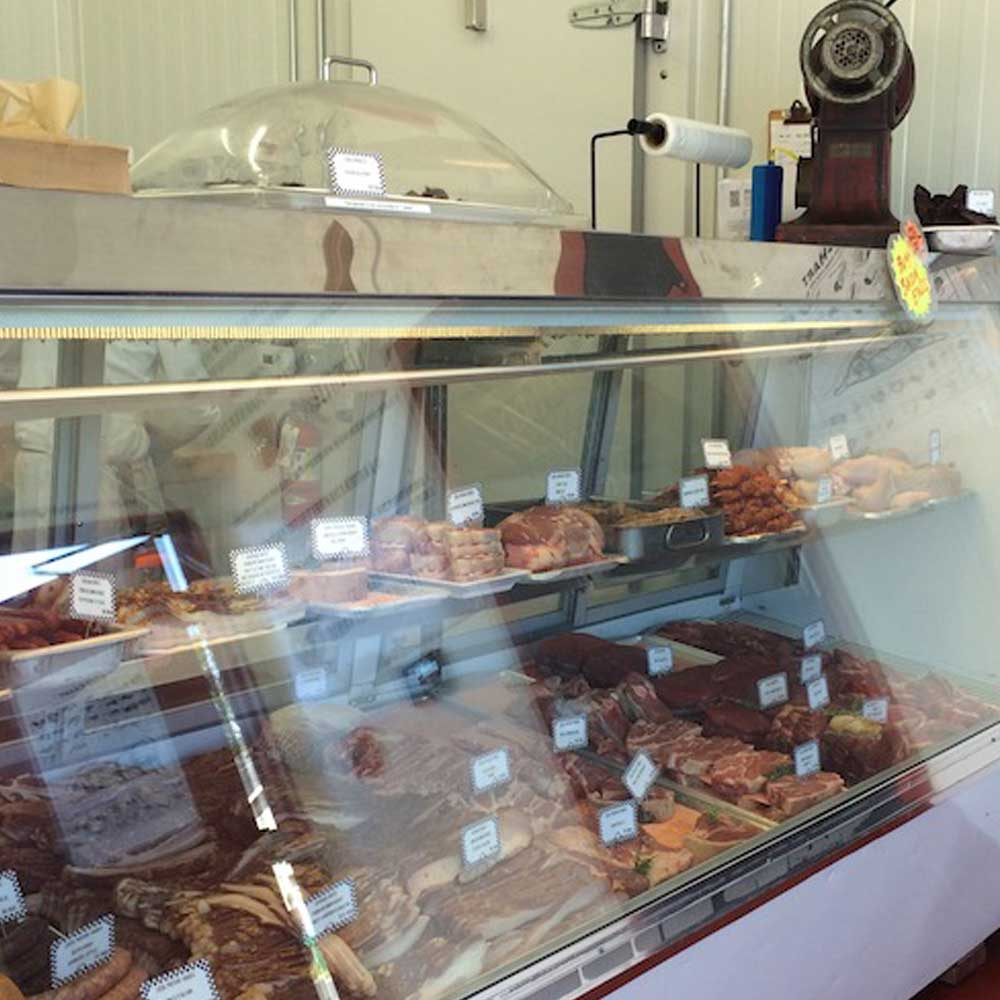Picture of a butcher shop