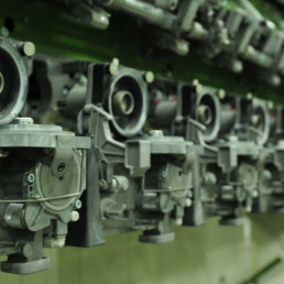 Picture of mechanical assembly line