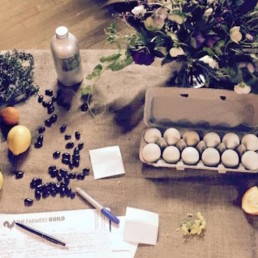Picture of eggs and produce