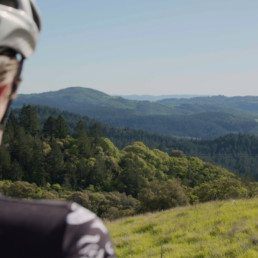 Picture of Bicyclist In Sonoma County Hills