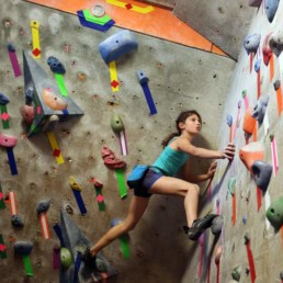 Picture of girl using an indoor climbing wall