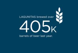 Lagunitas Brewed over 405 thousand barrels of beer last year