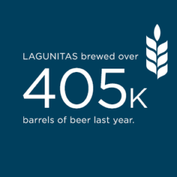 Lagunitas Brewed over 405 thousand barrels of beer last year