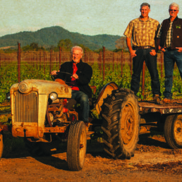 Picture of men on a tractor